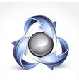 recycle around yin yang vector image