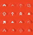 Transparent Arrows Set on Red Background vector image