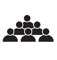 people icon on white background people sign vector image