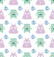 seamless pattern with monsters vector image