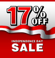 17 indonesia independence day sale poster vector image vector image