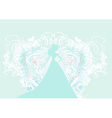 Abstract Beautiful floral bride silhouette vector image vector image
