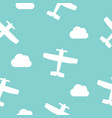 airplanes and clouds seamless pattern for vector image vector image