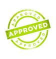 approved stamp green color symbol design vector image