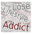 Are You Addicted To Your Lifestyle text background vector image vector image