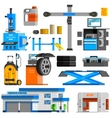 Auto Service Flat Decorative Icons Set vector image vector image
