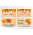 Autumn business cadrs with colorful leaves vector image vector image