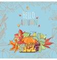 Autumn invitation card vector image