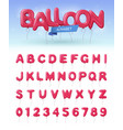 balloon alphabet realistic icon set vector image vector image