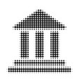 bank building halftone dotted icon vector image
