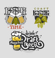 beer brew brewery alcohol related vector image