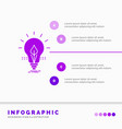 bulb idea electricity energy light infographics vector image