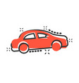car icon in comic style automobile car cartoon vector image vector image