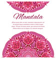 card with mandala wedding circle element vector image vector image