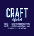 chisel font vector image vector image