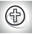 Christian cross sign sticker curved vector image vector image