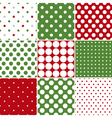 Christmas Polka Dot Seamless Patterns vector image