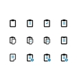 Clipboard duotone icons on white background vector image vector image