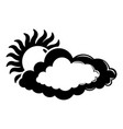 cloud sun icon simple black style vector image vector image