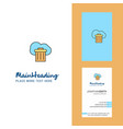 cloud trash creative logo and business card vector image vector image