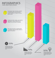 Colorful Bars Diagram Infographic vector image