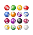 Colorful Billiard Balls Set vector image