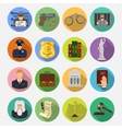 Crime and Punishment Flat Icons vector image vector image