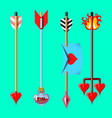 cupids arrows isolated on monochrome background vector image vector image