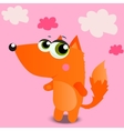 cute cartoon squirrel vector image