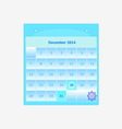 Design schedule monthly december 2014 calendar vector image vector image