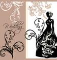 design wedding invitation with female vector image