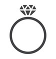diamond ring glyph icon valentines day vector image