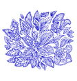 doodle flower abstract2 vector image