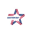 election voting poster start political vector image vector image