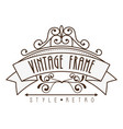 elegant frame style retro vector image vector image