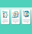 fitness mobile app onboarding screens vector image