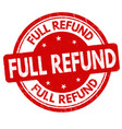 full refund sign or stamp vector image