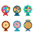 gambling roulette or wheel of fortune icons vector image vector image