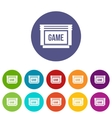 Game cartridge set icons vector image