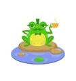 Gentelman Cartoon Frog Character vector image vector image