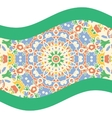 Green and teal mandala art print vector image