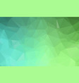 green polygonal which consist of triangles vector image vector image