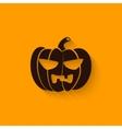 halloween pumpkin sign vector image vector image