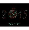 Happy New Year Greeting card 2015 vector image vector image