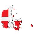 High detailed map - Denmark vector image vector image