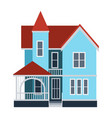 house front view building vector image vector image