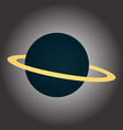 image of a blue planet with a ring vector image vector image