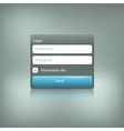 isolated login element with reflection vector image vector image