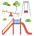 isolated playground set vector image