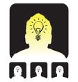 lightbulb profile vector image vector image